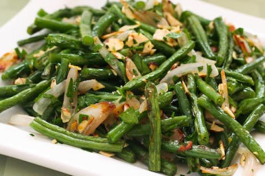 Roasted Green Beans with Shallots