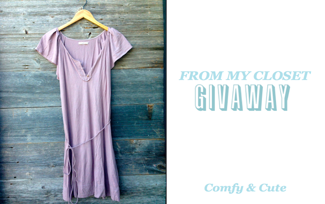 From My Closet Giveaway: Comfy & Cute