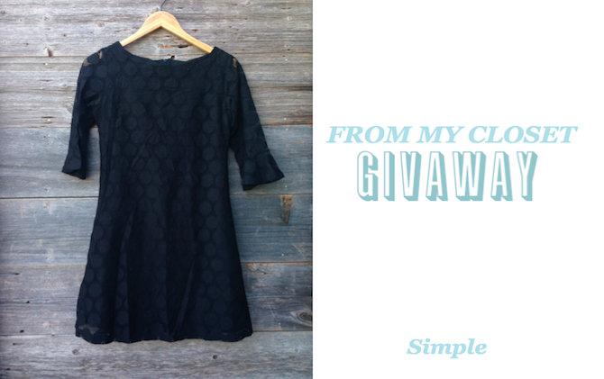 From My Closet Giveaway: Simple & Cute